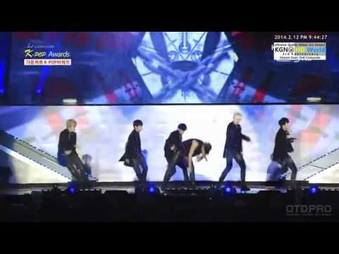 [140212] B.A.P - One Shot @The 3rd GAON Chart Kpop Awards [HD]