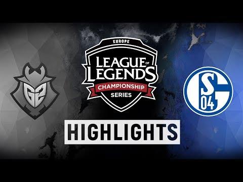 G2 vs. S04 - EU LCS Playoff Tiebreaker Highlights (Summer 2018)