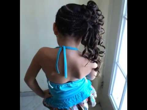 peinadito fashion para niña - YouTube
