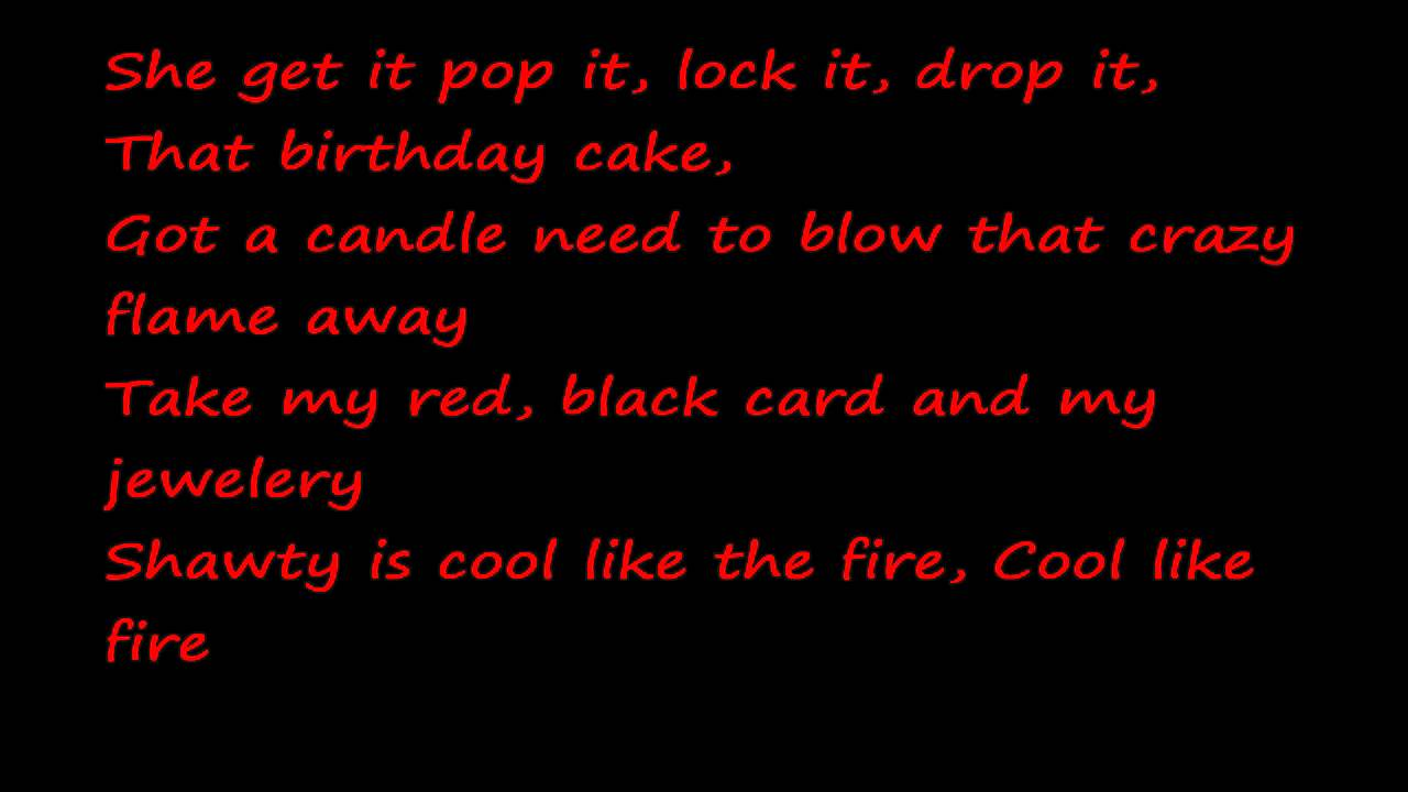 Lyrics of fire burning on the dance floor