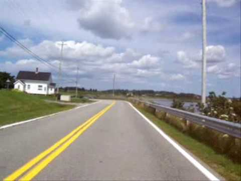 Yarmouth road to the lighthouse on vstrom