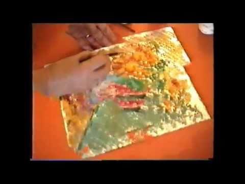 Como pintar icopor con temperas