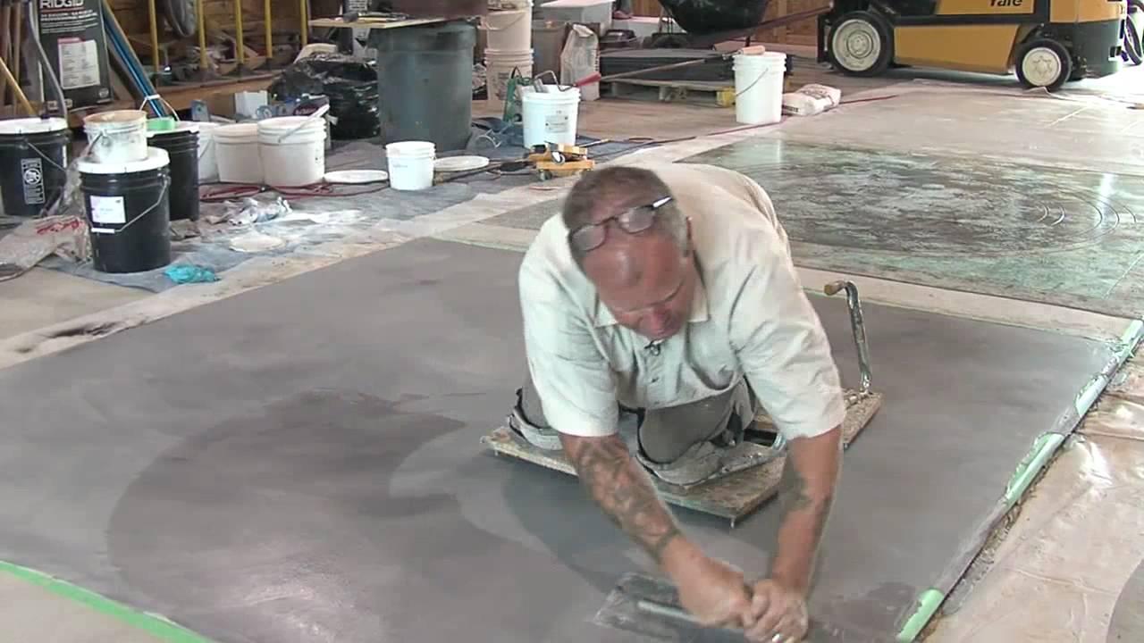 Concrete Resurfacing Skimcoat Overlay Application Youtube