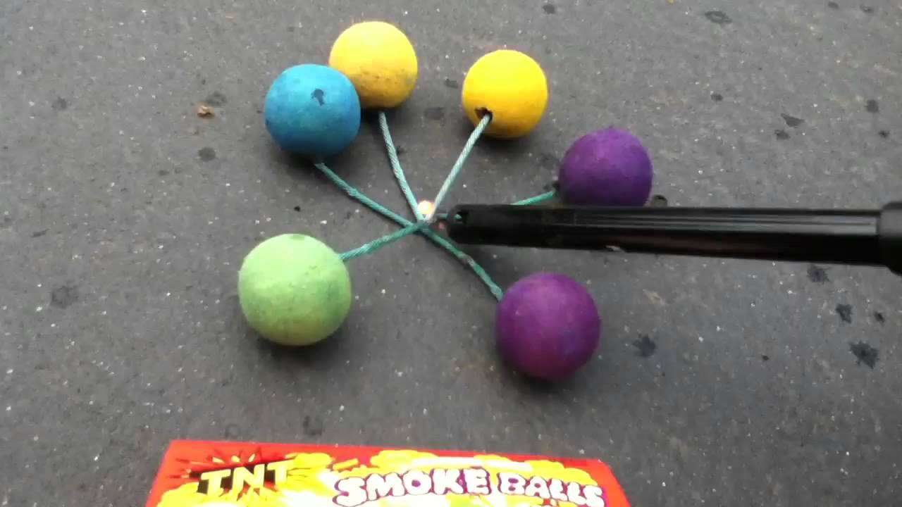 6 Pack Full Tnt Smoke Balls Youtube