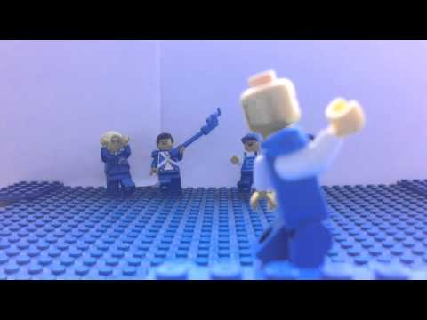 Lego I'm blue (da ba dee) stop motion music video