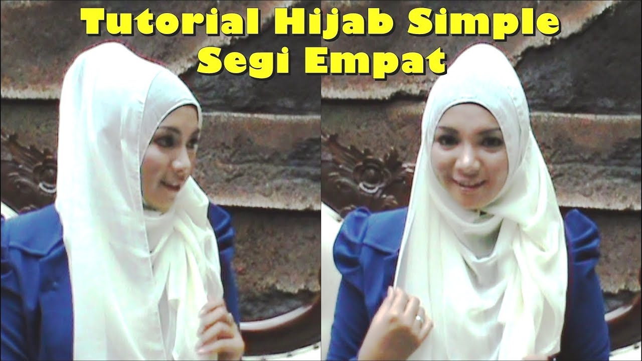 Tutorial Hijab Simple Casual Segi Empat by Revi #135 - YouTube