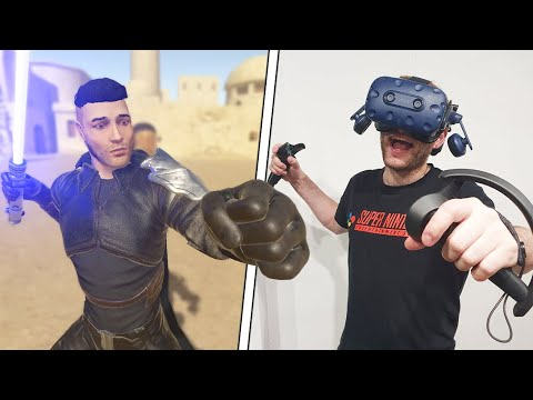 fighting in vr with full body tracking (epic)