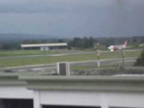AirAsia A320 9M-AHE - Takeoff runwiay 35 Sultan Iskandar Muda International Airport Aceh