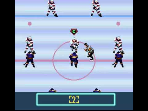 Pro Sport Hockey (SNES) Chicago vs  Pittsburgh