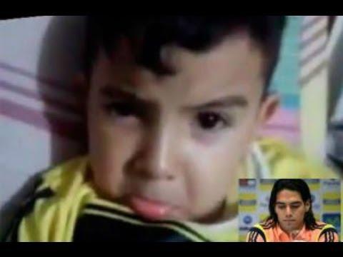 Mundial Brasil 2014: Pequeño rompe en llanto por ausencia de Radamel Falcao
