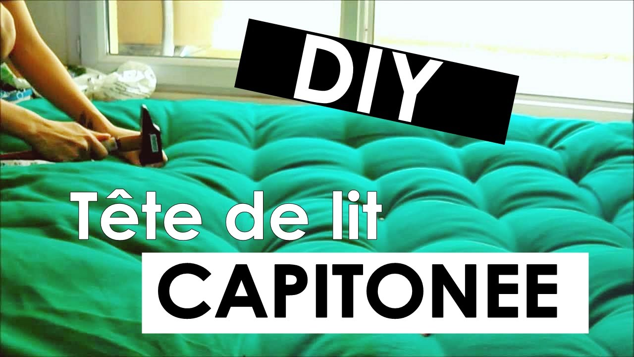 diy faire une t te de lit capitonn e youtube. Black Bedroom Furniture Sets. Home Design Ideas