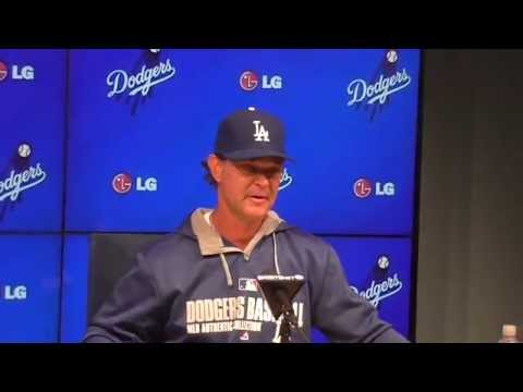 L.A. Dodgers - Don Mattingly comments after Kershaw's No-hitter