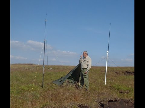 Ham Radio: Portable Antennas on Saddleworth Moor.