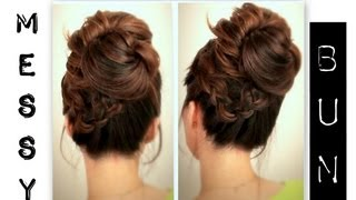 ★ CUTE, EVERYDAY SCHOOL HAIRSTYLES BIG, MESSY BUN WITH