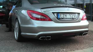 Mercedes CLS63 AMG W/ Catless Downpipes Exhaust Sound