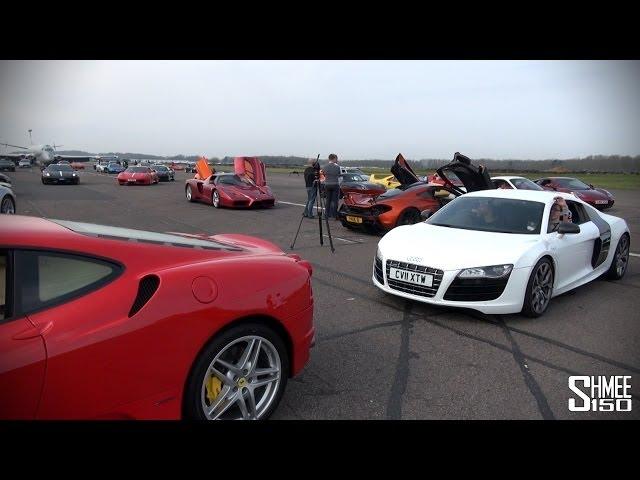 150 Supercars in a Traffic Jam - SCD Secret Meet