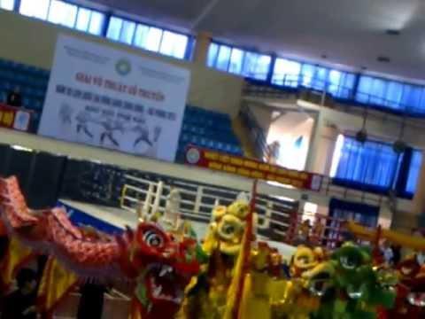 Biểu diễn Lân sư rồng Đại hội võ thuật cổ truyền Miền bắc 18 May 2013