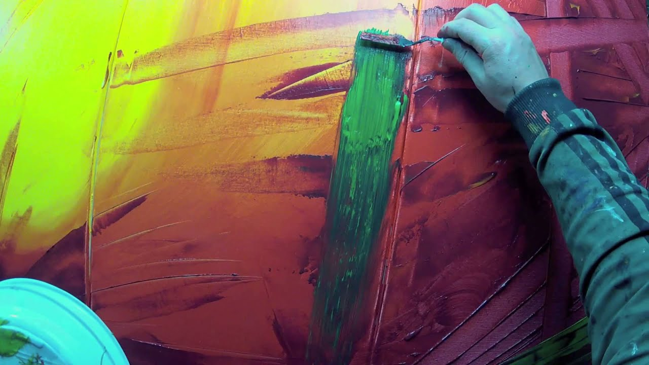 Learn how to paint abstract painting with acrylics video for Learn to paint with acrylics