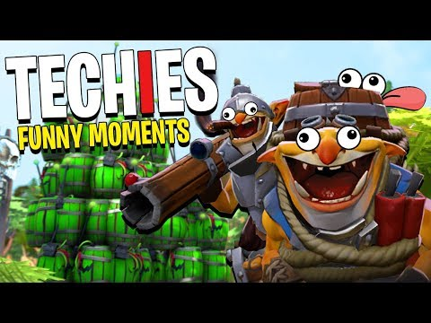 Techies the Ninja! - DotA 2 Funny Moments