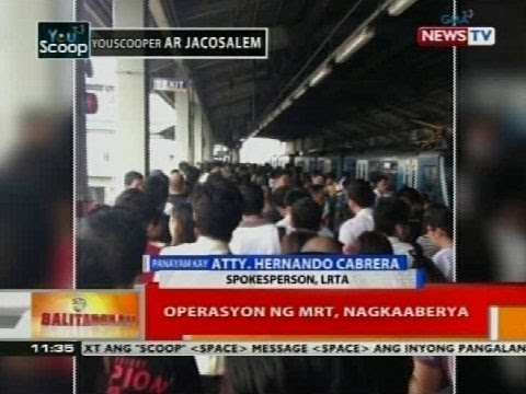 BT: Operasyon ng MRT, nagkaaberya