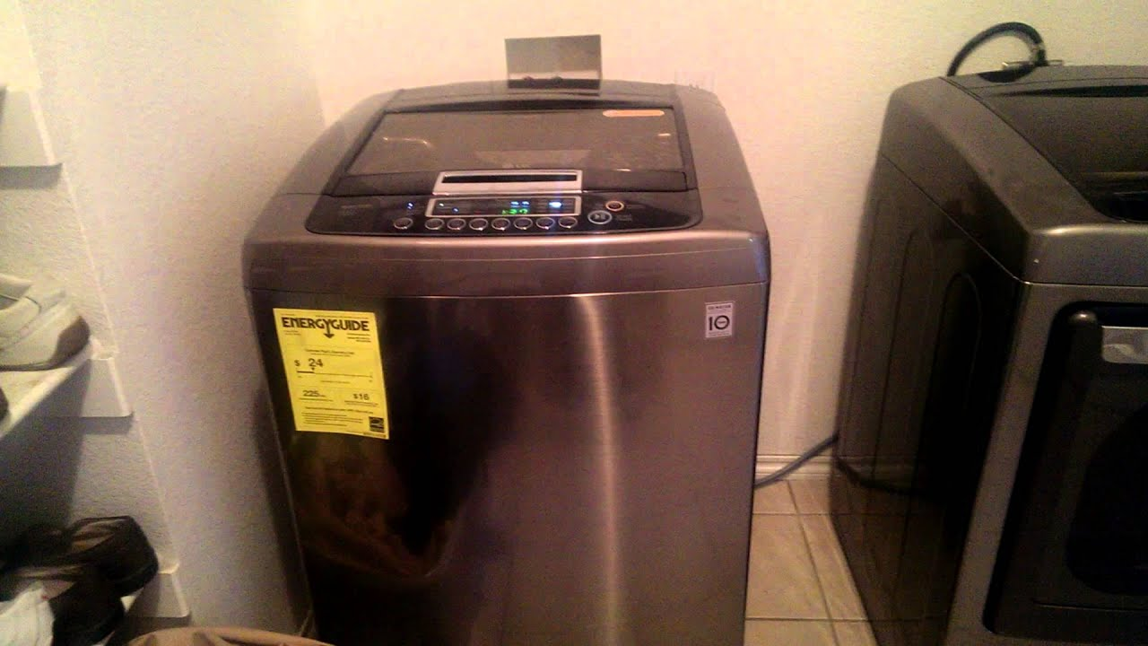 Lg Top Load Washer Dryer Youtube