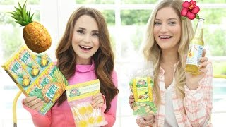 TRYING FUN PINEAPPLE TREATS w/ iJustine!