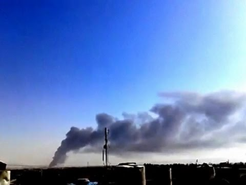 Raw: Iraq Refinery Ablaze After Militant Attack
