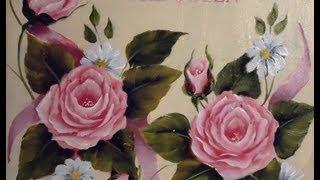 Como pintar rosas en acrílico
