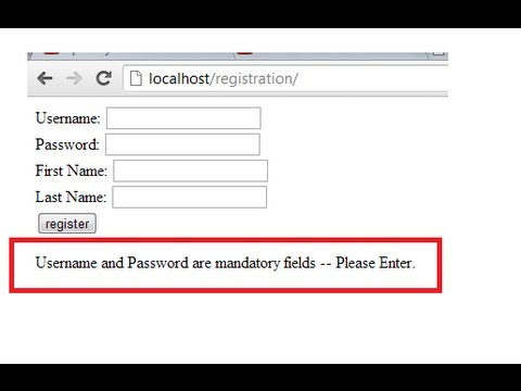Registration Form Validation: PHP + jQuery + AJAX (PART 2)