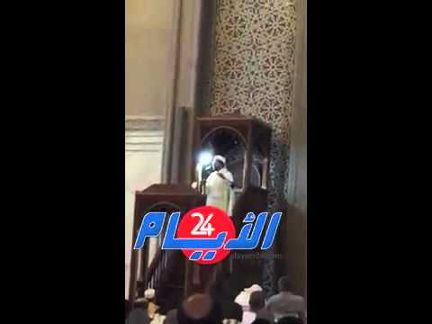 خطيب مسجد الحسن الثاني يرثي والد ليلى الحديوي باكيا