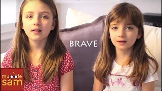 Brave By Sara Bareilles (Lyric Video) 8 And 10 Year Old