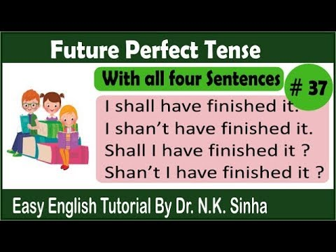 Future Perfect Tense | Tenses in English Grammar with examples in Hindi by easy english tutorial.