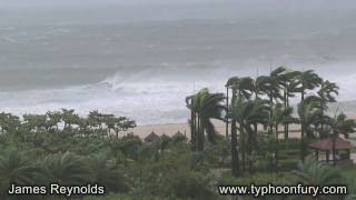 Typhoon Conson Batters Resort Town of Sanya, China