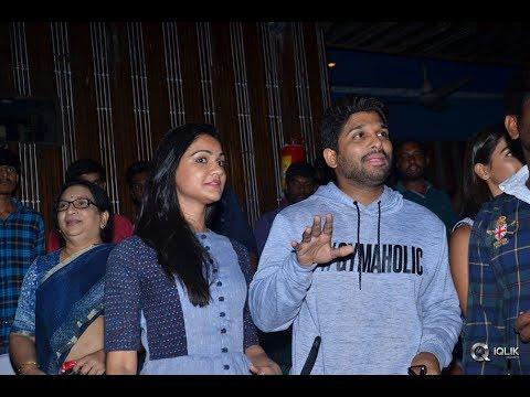 Duvvada-Jagannadham-Movie-Team-at-Sandhya-35MM-RTC-X-Roads
