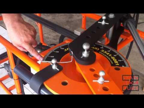 Curvadora  dobradeira de  tubo hidraulica