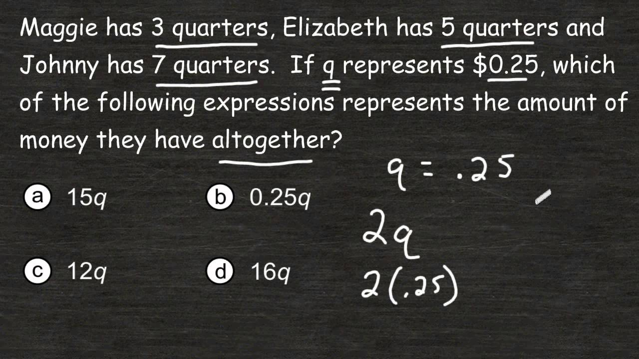 how to write algebraic expressions from word problems