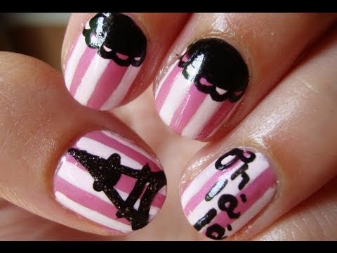 Paris France Theme Nail Art Nails Video