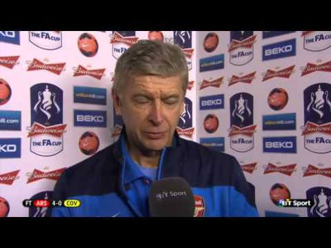 Arsenal 4 Coventry 0 : Arsene Wenger Post Match Reaction