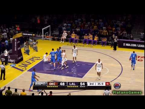NBA Oklahoma City Thunder vs Los Angeles Lakers - 3rd Qrt - NBA Live 14 PS4 - HD