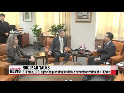 S. Korea, U.S. nuclear envoys discuss stalled six-party talks   방미 황준국 ″북핵