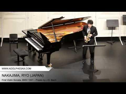 Dinant2014 NAKAJIMA Ryo First Violin Sonata, BWV 1001 Presto by J S Bach