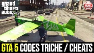 GTA 5 // Tous Les CODES TRICHE / CHEATS PS4 XBOX ONE PS3