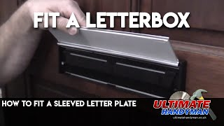 How to fit a letter plate