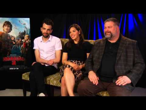 Jay Baruchel, America Ferrera, and Dean DeBlois talk about