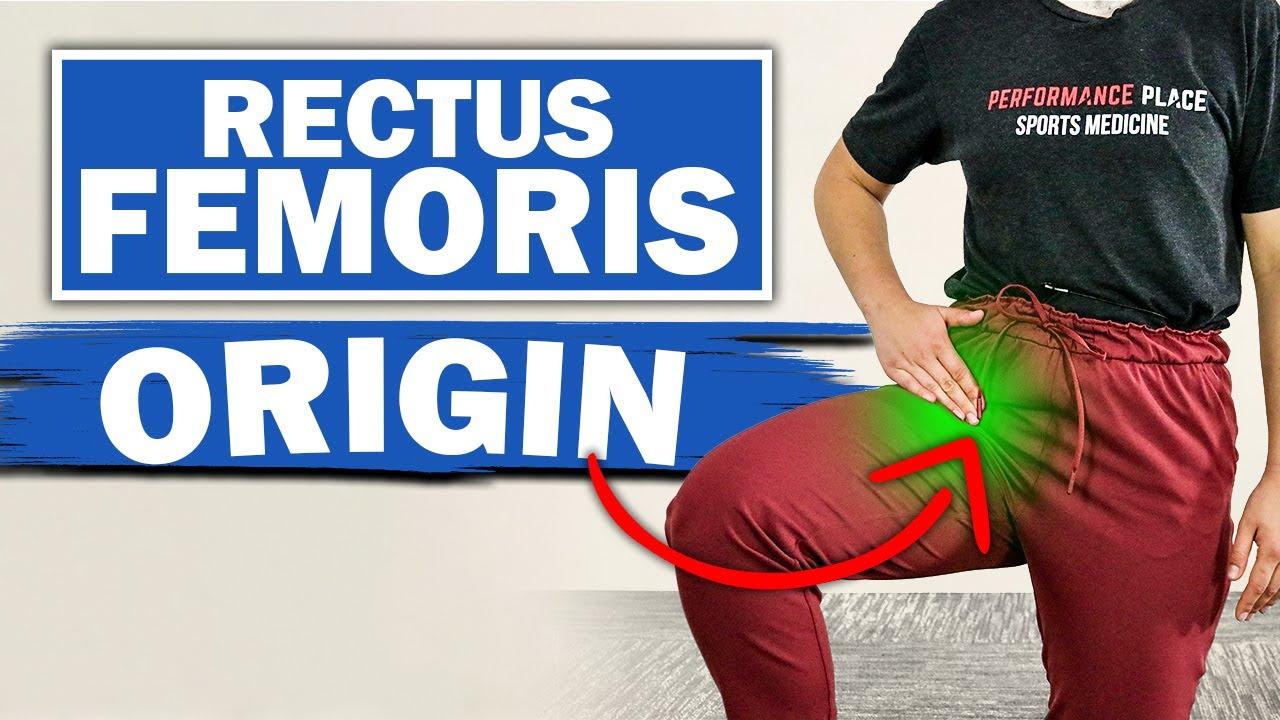 #3 Most Common Cause of Hip Pain - Rectus Femoris Origin  of Hip tendonitis running