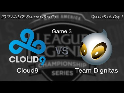 [ Cloud9 vs Team Dignitas ] Game 3 - 2017 NA LCS Summer Playoffs Day 1 170820