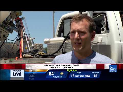 Weather Channel's Mike Bettes and the Tornado Team Crew Hit in Oklahoma.