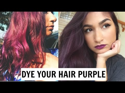 I DYED MY HAIR PURPLE (NO BLEACH) // MANIC PANIC PURPLE HAZE | javi