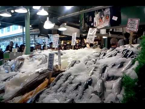 World famous pike place fish market in seattle washington for Famous fish market in seattle