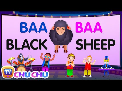 Baa Baa Black Sheep - Nursery Rhymes Karaoke Songs For Children | ChuChu TV Rock 'n' Roll